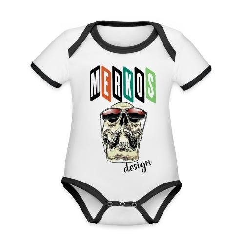 MERKOS - Body contraste para bebé de tejido orgánico