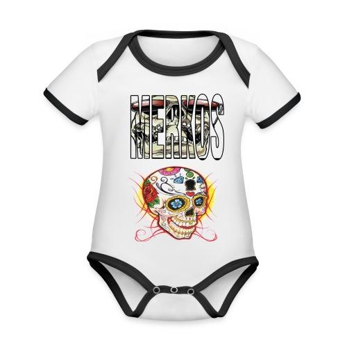 MERKOS CALAVERAS - Body contraste para bebé de tejido orgánico