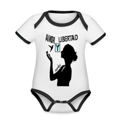 merkos libertad - Body contraste para bebé de tejido orgánico