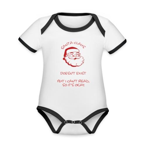 Santa Claus - Organic Baby Contrasting Bodysuit
