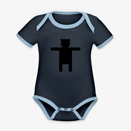 Epic Ippis Entertainment logo desing, black. - Organic Baby Contrasting Bodysuit