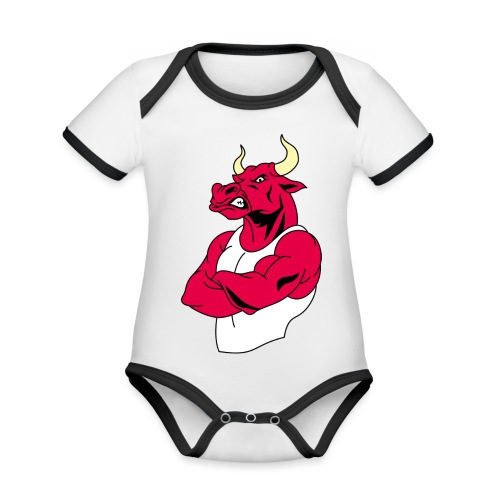 adhex toro - Body contraste para bebé de tejido orgánico