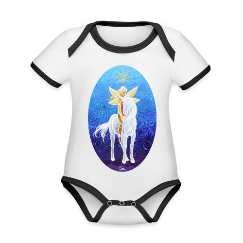 Das Leben ist magisch! - Baby Bio-Kurzarm-Kontrastbody