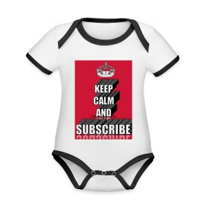 keep calm and subscribe logo - Organic Baby Contrasting Bodysuit