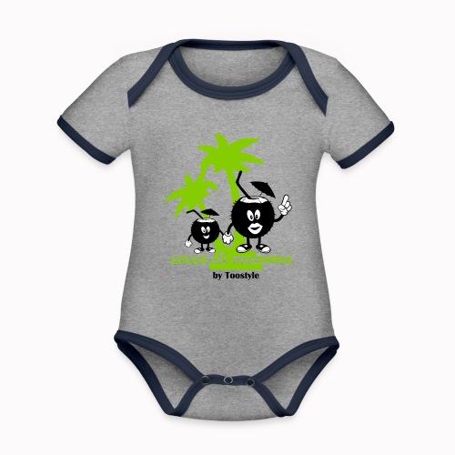 cocco di mamma tra le palme - Body da neonato a manica corta, ecologico e in contrasto cromatico