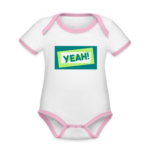 Teddy.Kidswear. – Yeah! - Baby Bio-Kurzarm-Kontrastbody