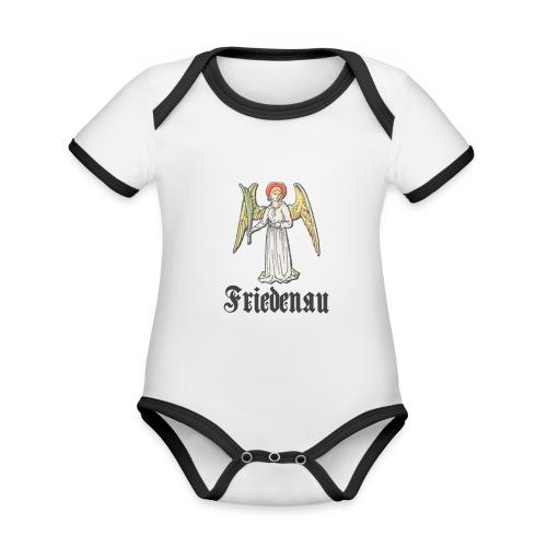 friedenau_wappenalt_dark - Baby Bio-Kurzarm-Kontrastbody