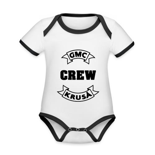 GMC CREWSHIRT - KUN FOR / CREW MEMBERS ONLY - Kortærmet økologisk babybody i kontrastfarver