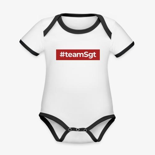 #teamSgt - Baby contrasterend bio-rompertje met korte mouwen