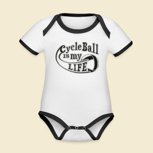 Radball | Cycle Ball is my Life - Baby Bio-Kurzarm-Kontrastbody