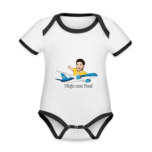 Frequent Flyer Yellow Viaja con Yoel - Body contraste para bebé de tejido orgánico