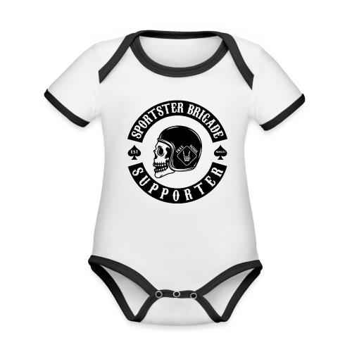 FreeSoulWhiteShirt - Baby Bio-Kurzarm-Kontrastbody