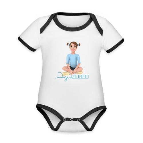 DP maskot og logo - Kortærmet økologisk babybody i kontrastfarver