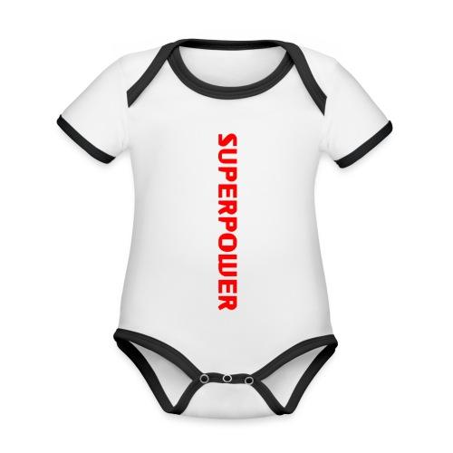 Superpower - Kortærmet økologisk babybody i kontrastfarver