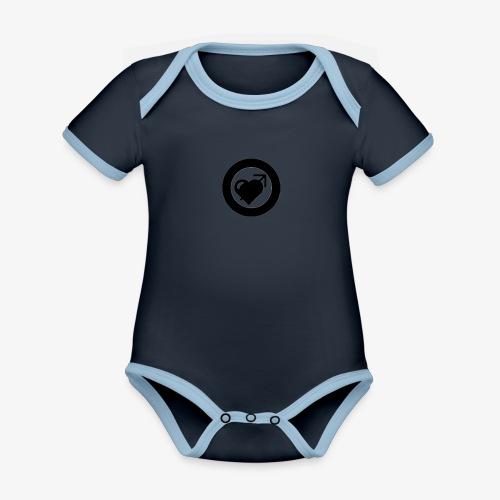 LOOVE (SS18) - Body da neonato a manica corta, ecologico e in contrasto cromatico
