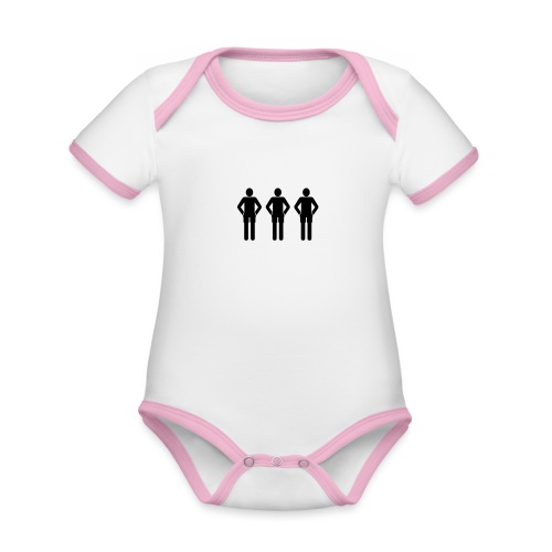 3schwarz - Baby Bio-Kurzarm-Kontrastbody