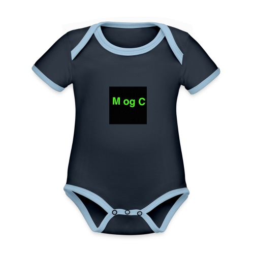 mogc - Kortærmet økologisk babybody i kontrastfarver