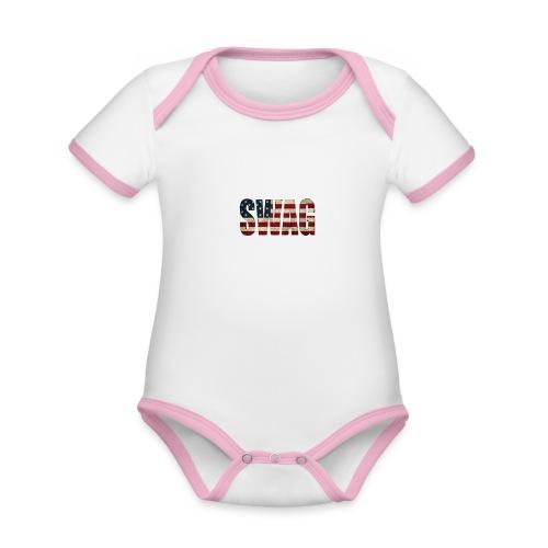 USA_SWAGG - Body Bébé bio contrasté manches courtes