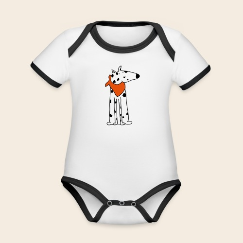 mignon dalmatien - Body Bébé bio contrasté manches courtes