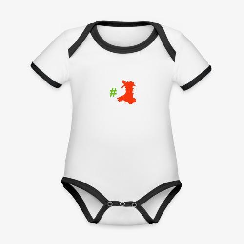 Hashtag Wales - Organic Baby Contrasting Bodysuit