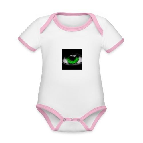 Green eye - Organic Baby Contrasting Bodysuit