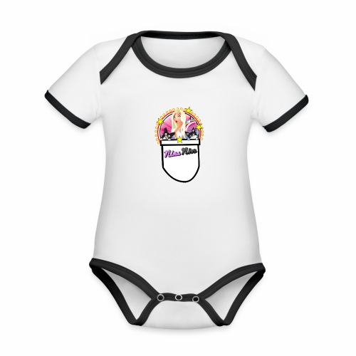 Nina Nice Pocket - Baby Bio-Kurzarm-Kontrastbody