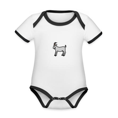 Ged T-shirt dame - Kortærmet ækologisk babybody i kontrastfarver