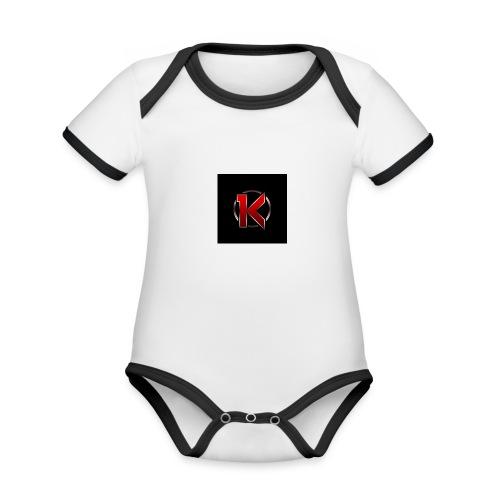 Logo - Kortærmet økologisk babybody i kontrastfarver