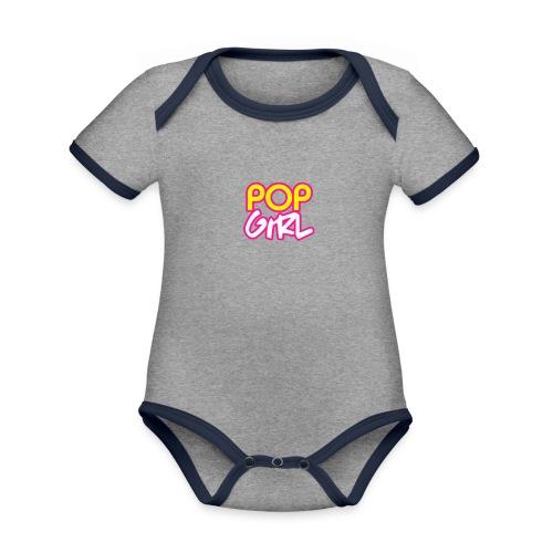 Pop Girl logo - Organic Baby Contrasting Bodysuit