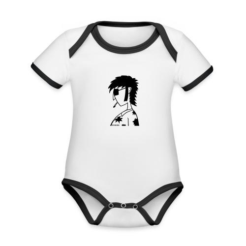 hippie - Baby Bio-Kurzarm-Kontrastbody