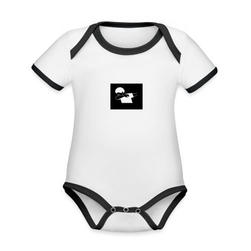 The Dab amy - Organic Baby Contrasting Bodysuit