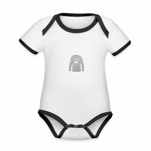 K1ING - t-shirt mannen - Baby contrasterend bio-rompertje met korte mouwen