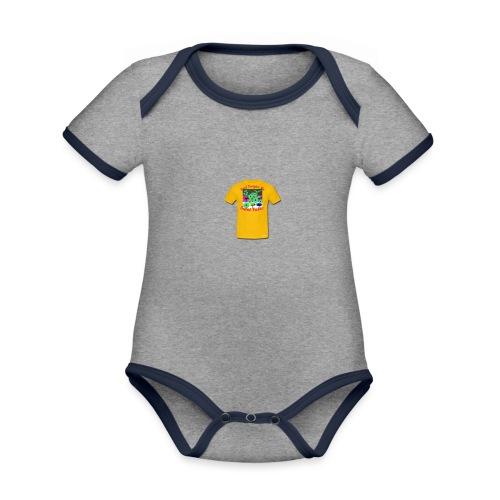 Castle design - Kortærmet økologisk babybody i kontrastfarver