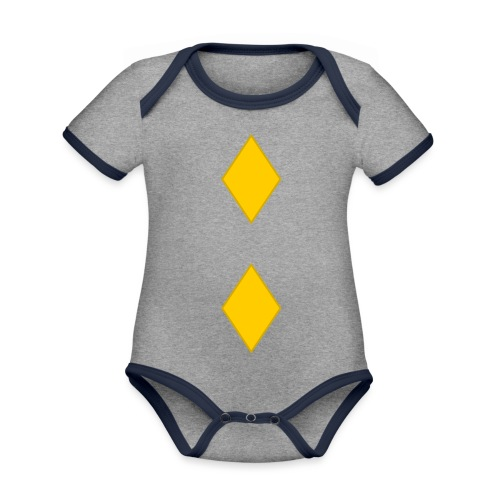 Upseerikokelas - Vauvan kontrastivärinen, lyhythihainen luomu-body