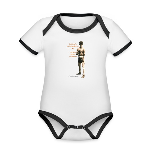 Fight Antigypsyism Johann Rukeli Trollmann - Organic Baby Contrasting Bodysuit