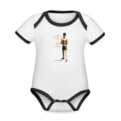 Fight Antiziganism like Johann Rukeli Trollmann - Organic Baby Contrasting Bodysuit