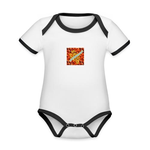 sverimasken2 - Ekologisk kontrastfärgad kortärmad babybody