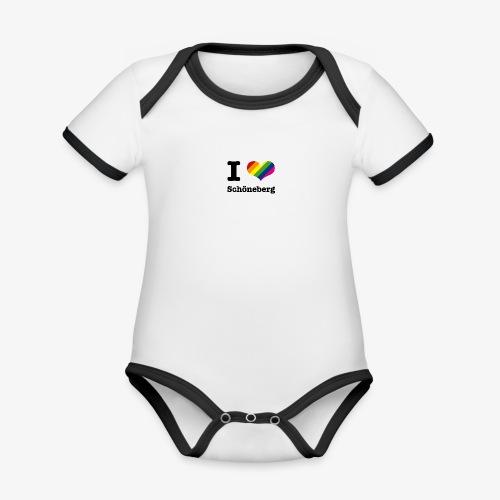 I love Schöneberg - Baby Bio-Kurzarm-Kontrastbody