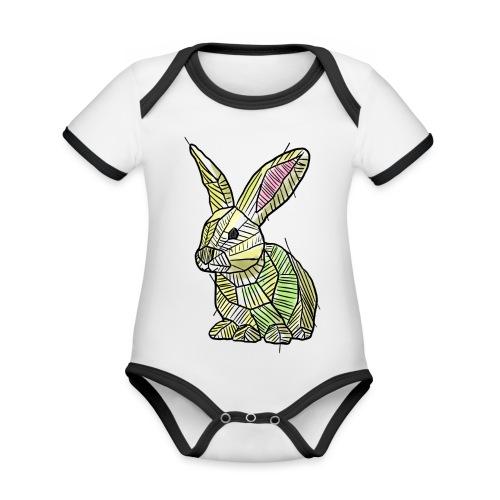Scribblebunny - Organic Baby Contrasting Bodysuit