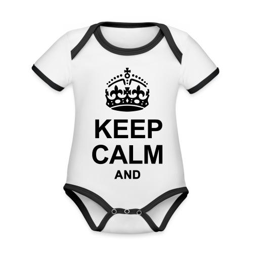 KEEP CALM - Organic Baby Contrasting Bodysuit