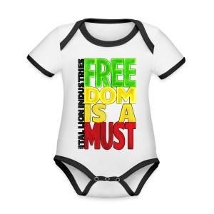 Freedom is a must - Organic Baby Contrasting Bodysuit