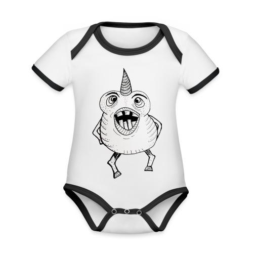 fatunicorn - Body Bébé bio contrasté manches courtes