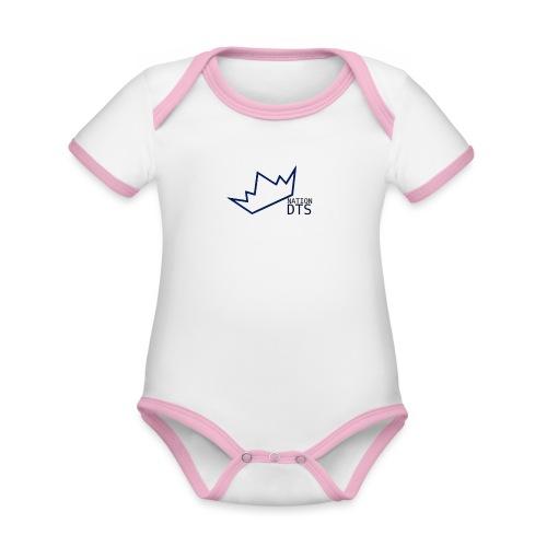 dtsnation - Ekologisk kontrastfärgad kortärmad babybody