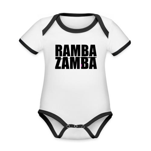 RAMBAZAMBA - Baby Bio-Kurzarm-Kontrastbody