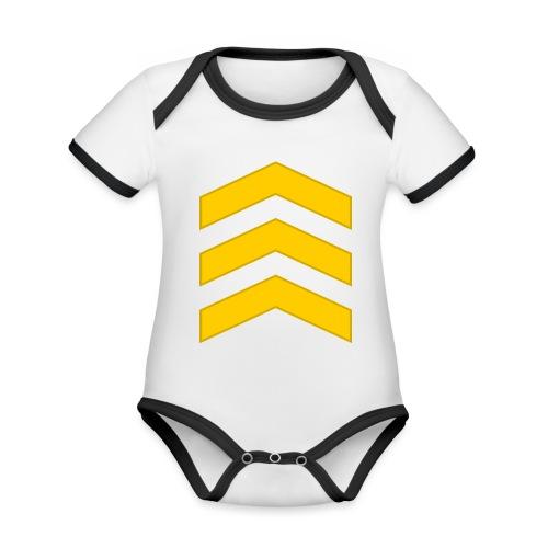 Kersantti - Vauvan kontrastivärinen, lyhythihainen luomu-body