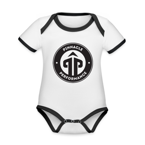 Pinnacle Performance Apparel (Black Logo) - Organic Baby Contrasting Bodysuit