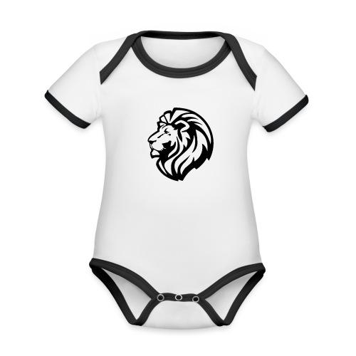 LION - Body da neonato a manica corta, ecologico e in contrasto cromatico