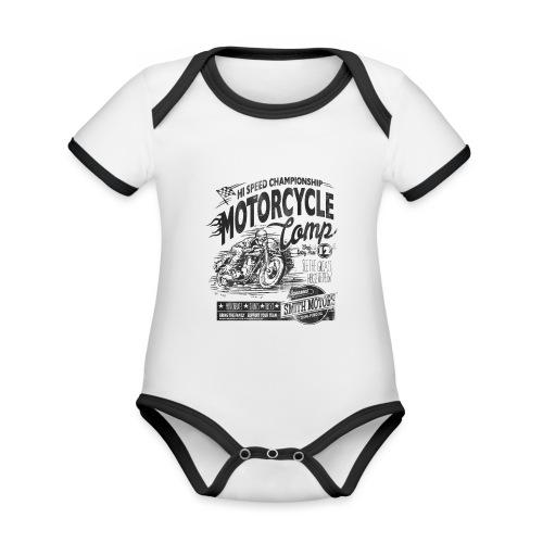 Motrorcycle - Økologisk kortermet kontrast-babybody