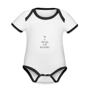 'Be a bad ass with big lashes' Phone Cover - Organic Baby Contrasting Bodysuit