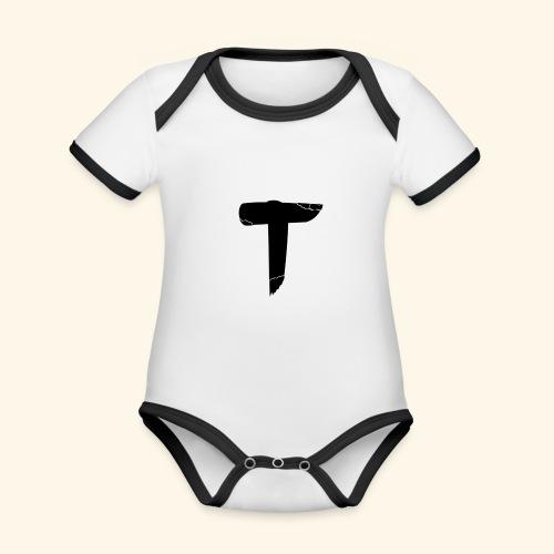 T - Body Bébé bio contrasté manches courtes